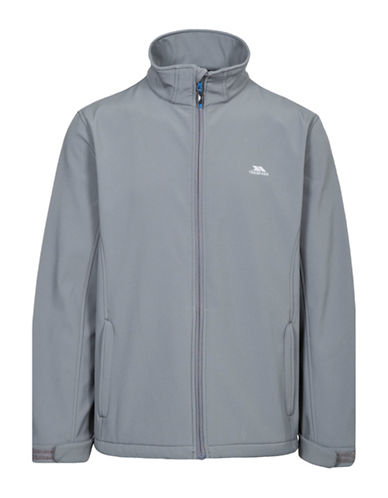 Trespass Vander Tailored-Fit Softshell Jacket-GREY-Small