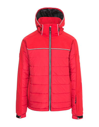 Trespass Drafted Windproof Jacket-RED-X-Small