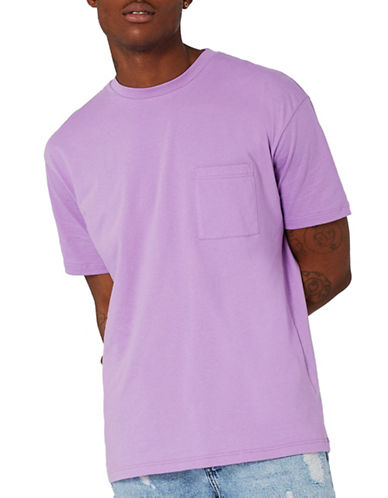 Topman Oversized Pocket T-Shirt-PURPLE-X-Small