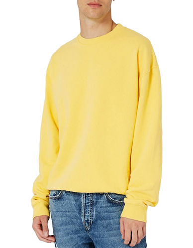Topman Nico Oversized Sweatshirt-YELLOW-Small