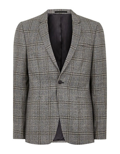 Topman Skinny Suit Jacket-GREY-36