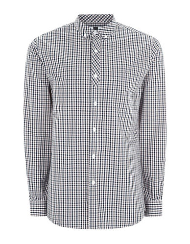 Topman Gingham-Printed Sport Shirt-MULTI-Small