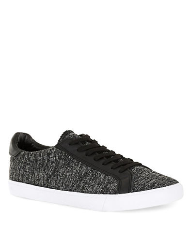 Topman Knit Low Sneakers-BLACK-41