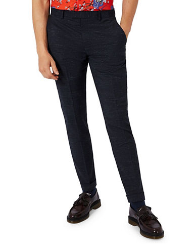 Topman CHARLIE CASELY-HAYFORD Stretch Wool Weekend Suit Trousers-DARK BLUE-32 Long