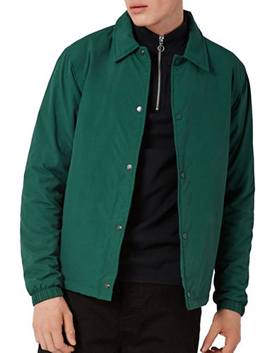 Topman Coach Jacket-DARK GREEN-Small