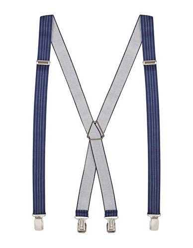 Topman Pinstripe Suspenders-BLUE-One Size