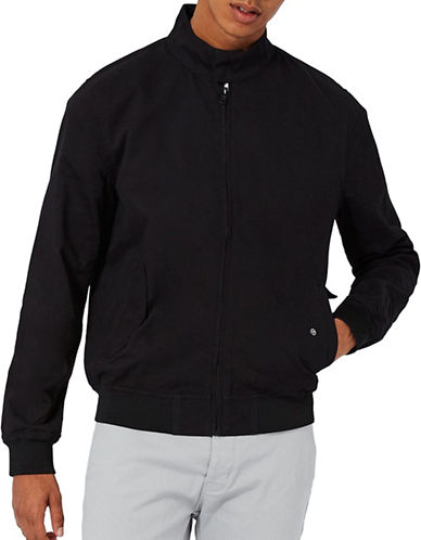 Topman Harrington Jacket-BLACK-Small