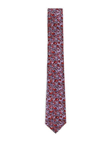 Topman Floral Skinny Tie-MULTI-COLOURED-One Size