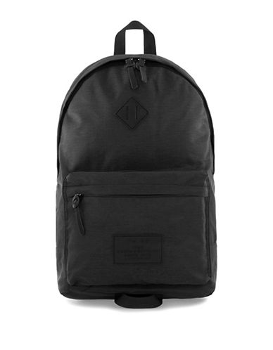Topman Solid Backpack-BLACK-One Size