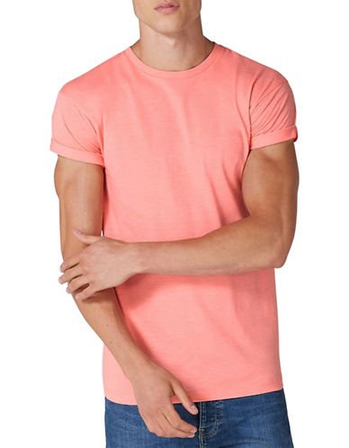 Topman Muscle Roller T-Shirt-PINK-X-Large