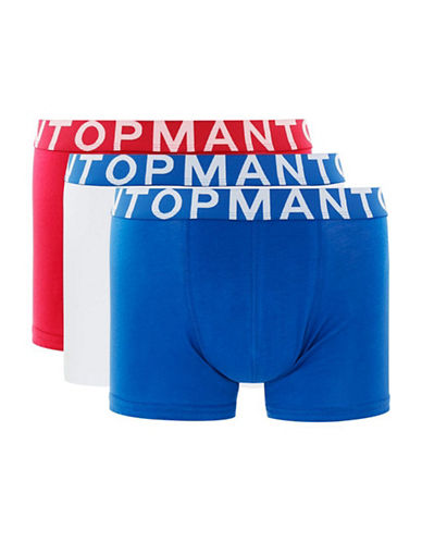 Topman Three-Pack Assorted Trunks-MULTI-Large/X-Large