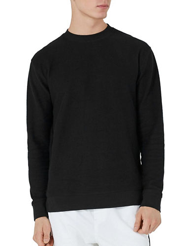 Topman Reverse Fabric Shirt-BLACK-X-Large