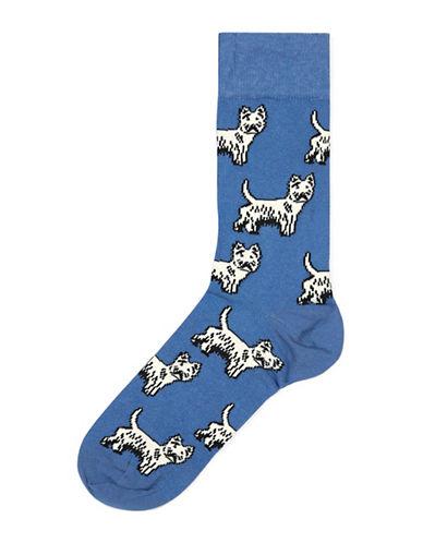 Topman Terrier Socks-BLUE-One Size