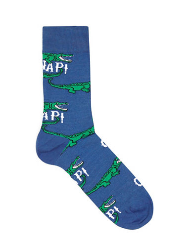 Topman Oh Snap Socks-BLUE-One Size