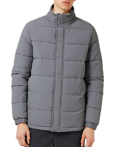 Topman Premium Puffer Jacket-GREY-Large 88957384_GREY_Large