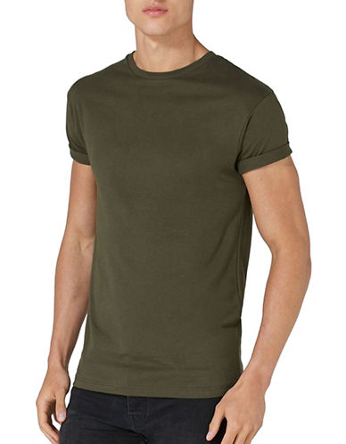 Topman Muscle Fit T-Shirt-GREEN-Small