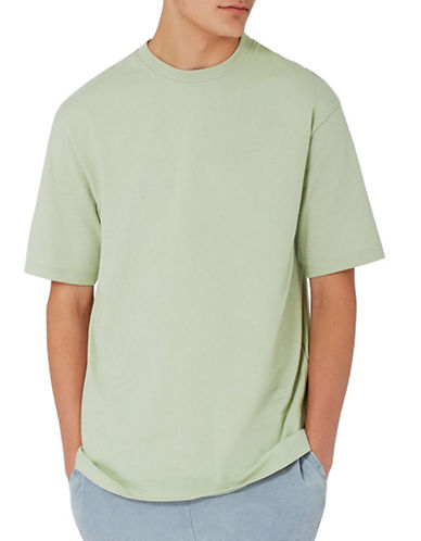 Topman 90s Oversized T-Shirt-GREEN-X-Small