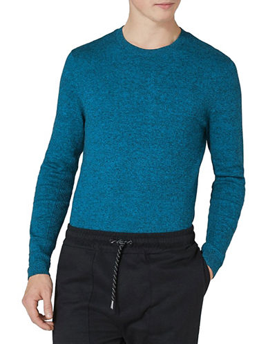 Topman Slim Fit Twist Sweater-DARK BLUE-Large