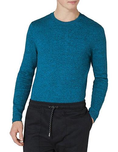 Topman Slim Fit Twist Sweater-DARK BLUE-Medium