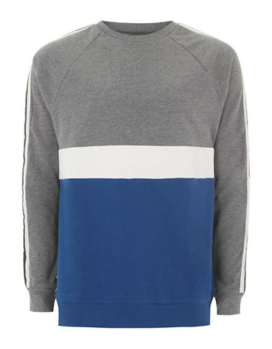Topman Panelled Sweatshirt-MULTI-Small