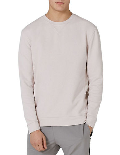 Topman Classic Fit Premium Sweatshirt-PINK-Medium