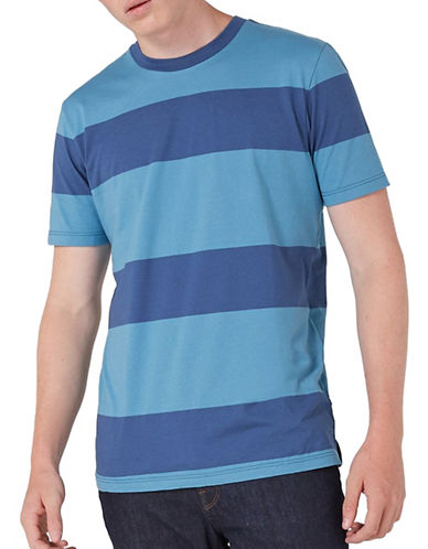 Topman Stripe T-Shirt-DARK BLUE-Small