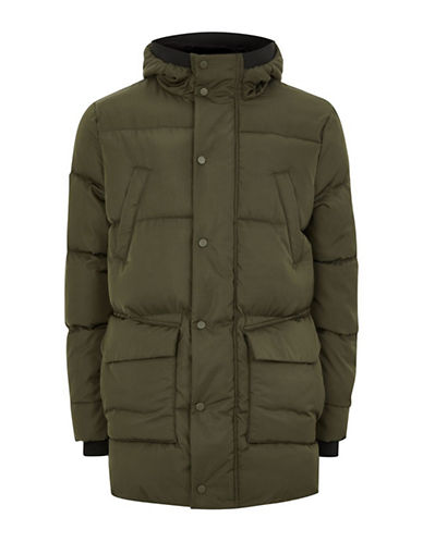Topman LTD Tundra Thinsulate Parka-BEIGE-X-Large