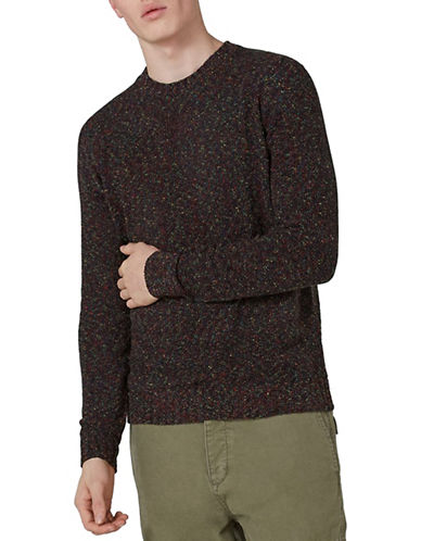 Topman Slim Fit Rainbow Neppy Sweater-CHARCOAL-X-Large