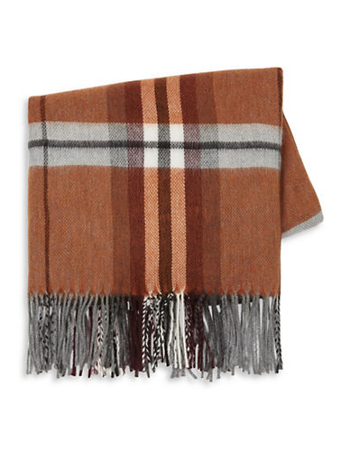 Topman Check Blanket Scarf-BROWN-One Size