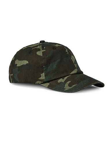 Topman Camouflage Dad Cap-GREEN-One Size
