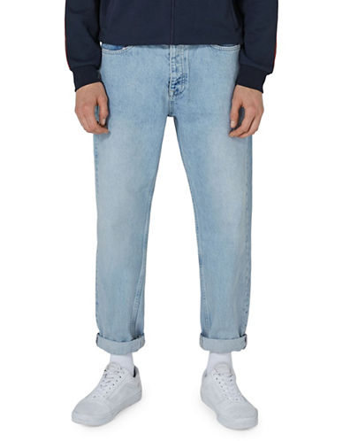 Topman Bulldog Light Wash Original Jeans-BLUE-34