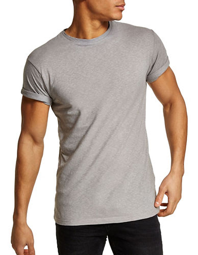 Topman Muscle Fit T-Shirt-GREY-Small 90023593_GREY_Small