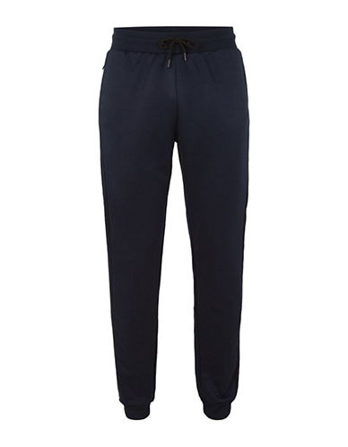 Topman Classic Fit Tricot Track Pants-DARK BLUE-X-Small