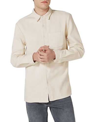 Topman LTD Carson Heavyweight Shirt-CREAM-Large