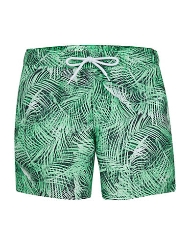 Topman Palm Print Swim Shorts-MULTI-Large/X-Large 89115405_MULTI_Large/X-Large