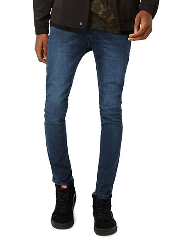 Topman Viola Stretch Spray-On Jeans-BLUE-34