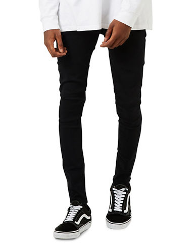 Topman Super Spray-On Skinny Jeans-BLACK-34 Long