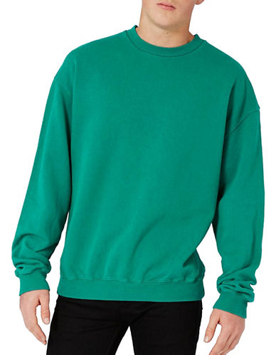 Topman Nico Oversized Sweatshirt-GREEN-Large