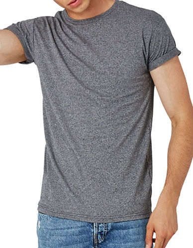 Topman Muscle Fit T-Shirt-GREY-X-Large
