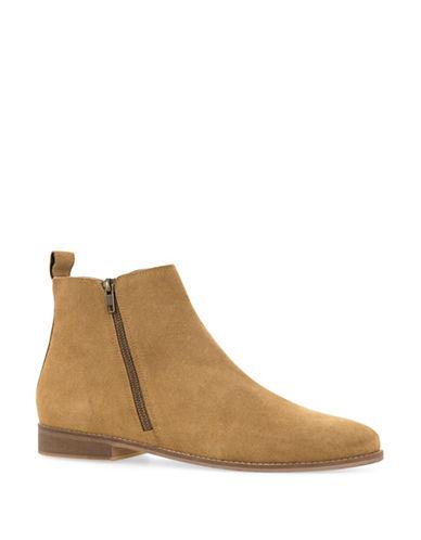 Topman Aspen Suede Zip Boots-BROWN-41