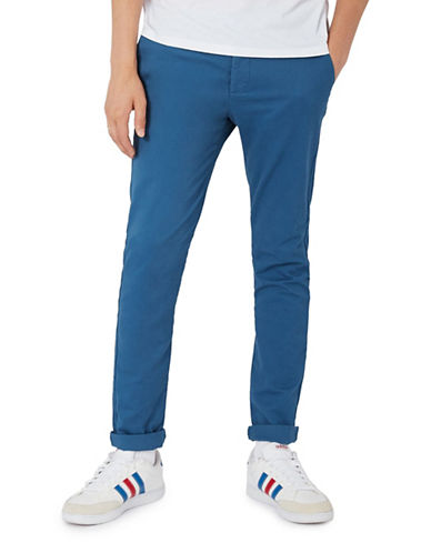 Topman Washed Stretch Chinos-BLUE-30