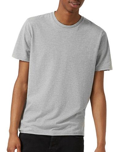Topman Marl Nibble Neck T-Shirt-GREY-X-Small 89016787_GREY_X-Small