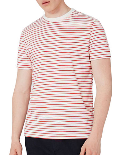 Topman Slim Fit Stripe T-Shirt-RED-Large