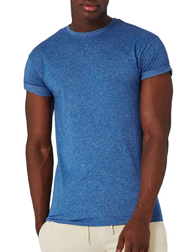 Topman Muscle Fit Roller T-Shirt-BLUE-Medium