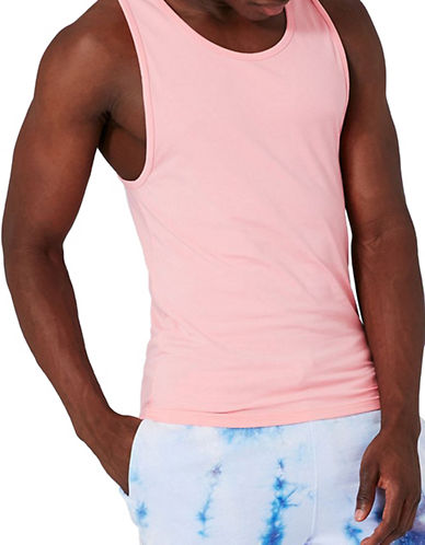 Topman Muscle Fit Tank Top-PINK-Small