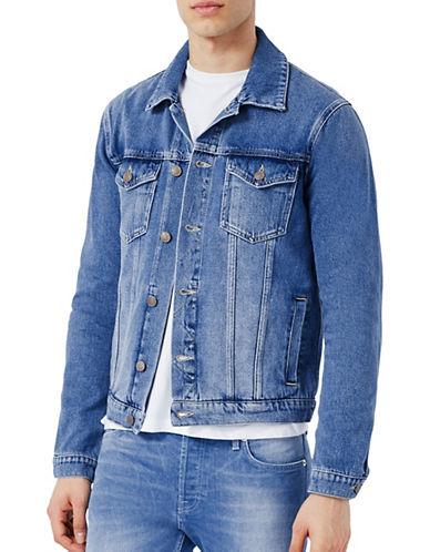 Topman Blue Denim Jacket-BLUE-X-Small