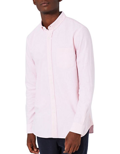 Topman Button-Down Oxford Shirt-PINK-X-Small