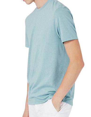 Topman Slim Crew Neck T-Shirt-LIGHT BLUE-Large