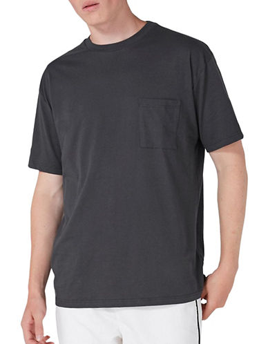 Topman Oversized Pocket T-Shirt-BLACK-Large