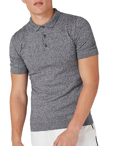 Topman Speckled Muscle Fit T-Shirt-GREY-X-Large